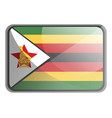 zimbabwe flag on white background vector image vector image
