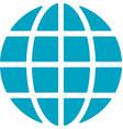 global network icon vector image