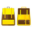 school bag design isolated on white background vector image