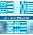 10 Seamless Nautical Backgrounds vector image vector image