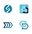 abstract arrow logo vector image vector image