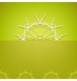 Abstract Ornamental Green Background vector image vector image