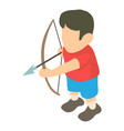 archer icon isometric 3d style vector image vector image
