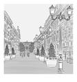 avenue with vintage buildings vector image vector image