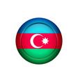 azerbaijan flag on the round button vector image