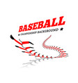 baseball background lace from a baseball on a vector image vector image