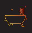 bathtub icon design vector image