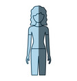 blue color shading silhouette faceless front view vector image vector image
