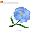 Blue Poppies The National Flower of Bhutan vector image vector image