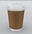 brown paper coffee cup as of coffee take out vector image
