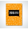 Business annual report with business icons pattern vector image