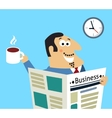 Business morning newspaper and coffee vector image