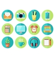 Business or Education Work Flow Items vector image vector image