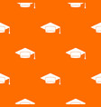 cap student pattern seamless vector image vector image