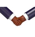 cartoon business handshake isolated vector image