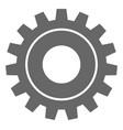 cog flat icon symbol vector image