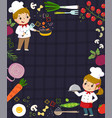 cooking concept background vector image