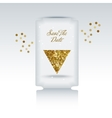 Cute card with gold confetti glitter vector image