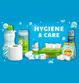 daily hygiene personal health care product poster vector image