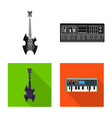 design of music and tune symbol collection vector image