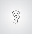 ear outline symbol dark on white background logo vector image vector image