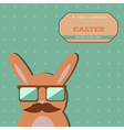 Easter hipster bunny card vector image vector image