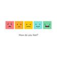emoticons scale satisfaction survey vector image vector image