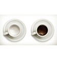 Empty and full coffee cups icons set vector image vector image
