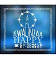 Festival Kwanzaa Holiday card vector image vector image
