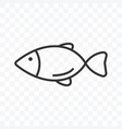 fish icon simple flat design isolated vector image vector image