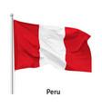flag republic peru vector image vector image