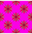 Fractal flower seamless pattern on pink background vector image vector image