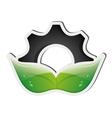 Gear and leaf icon