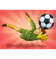 Goalkeeper Jump Catch a Ball vector image