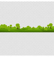 green nature landscape isolated transparent vector image vector image