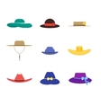 Hats Set Fashion for Men and Women vector image