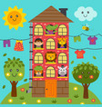homecute animals in home vector image vector image
