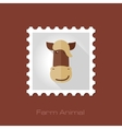 Horse flat stamp Animal head vector image vector image