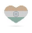 I love India Creative heart flag vector image vector image
