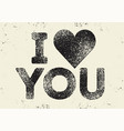 i love you valentine greeting card design vector image vector image