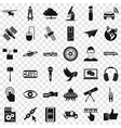 internet technology icons set simple style vector image vector image