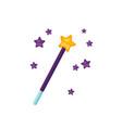 magic wand flat sorcerer vector image vector image