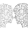 man and woman notes vector image