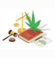 medical marijuana legalization concept vector image