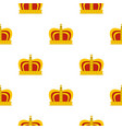 monarchy crown pattern flat vector image vector image