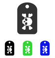 morgue mark flat icon vector image vector image