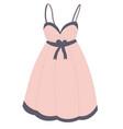 nightie sleepwear for females nightgown pajama vector image
