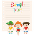 paper design with kids reading books vector image vector image