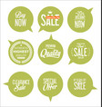 paper sale stickers collection 5 vector image vector image