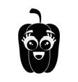 pepper cartoon face vector image